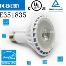 UL energy star 11w par30 led light bulb e26 120v dimmable warm white 3000k 30 degree led par30