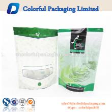 2016 embalagem verde whey protein energy zipper standup standup