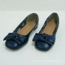 Mulheres Casual Flats Bowknot Slip-on Blue Flat Ballet Sapatos de dança confortável