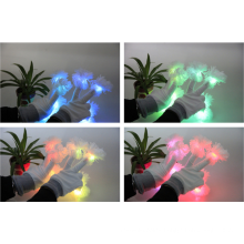 White multicolor fashion NEWyear led gloves