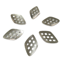 high precision anodized aluminum die stamping pieces curved die stamping punched plates