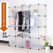 DIY большой одежда шкаф шкаф шкаф ткань обуви для хранения Организатор