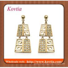 Conjunto de jóias em ouro Argélia dubai ouro largo jóias brinco brinco pingente de ouro