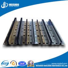 Aluminium extrudé, joint de mouvement en acier inoxydable (MSMJ10 / 23)