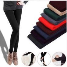 Женская мода теплый толстый флис стрейч тощий брюки (SR8231)