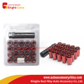 Red Close End Bulge Acorn Wheel Nut Set