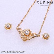 61847-Xuping Moda Mulher Jewlery Set com Banhado a Ouro 18K