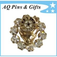 Pin de broche de metal de alta qualidade com crachá de diamante (badge-036)