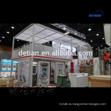 stand de dos pisos, stand de exposición, sistema de cabina de doble cabina