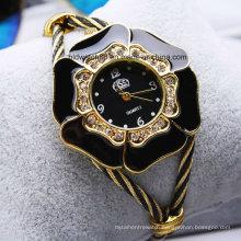 Sparkle Bangle Women′s Watches Gold Tone