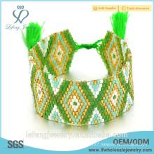 2016 new fashion jewelry green color bohemian wraps boho bracelet