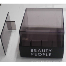 Semitransparent Acryl Counter Display Box mit Divider, Printing Acryl POS Display