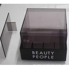Caja semitransparente de mostrador de acrílico con divisor, impresión Acrílico POS Display