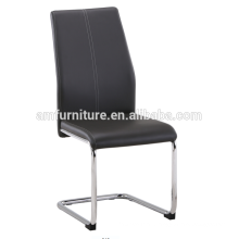 2017 hot sale promotionc low price swing dining chair with chrome leg
