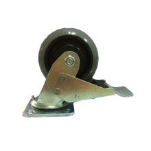 Тяжелый тип двойного шарикоподшипника Double Brake Type Hi-Tech Rubber Caster