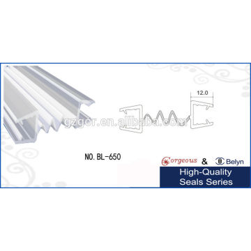 sliding glass door seal double link middle sealing bar