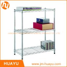 Alambre de artículos para el hogar 3-shelf estantería Rack, estantería del alambre