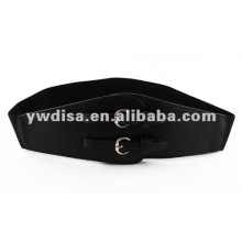Elastic Cinch Belt For Woman With 2 Buckles
