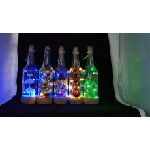 Luz da garrafa de vinho Cork LED String luzes decoração