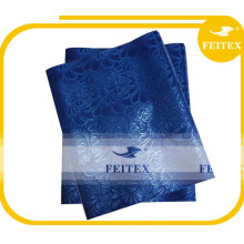 La meilleure vente d'usine nigériane offre bleu sego gele / tête de sego africain cravate / headtie en stock pour la robe de fille