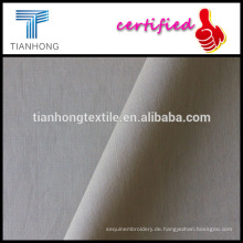 Farbe Khaki gekämmte Baumwolle leichte Popeline weben Stoff für formelle Hemd