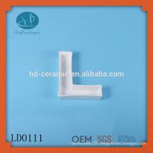 wholesale plain ceramic letter dish,ceramic cruet for sale,popular porcelain letter dish, Alphabet Mold