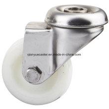 Jato de furo de parafuso de aço inoxidável de 100 mm, rodízio leve