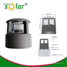 Exterior post solar de aluminio CE luz para la iluminación del jardín, luz solar posterior (JR-CP46)
