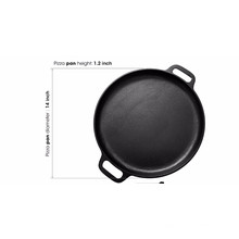 """14"""" Round Cast Iron Pizza Pan with Handles"""