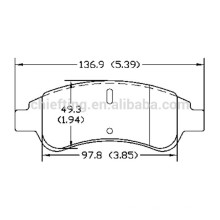 Installation des plaquettes de frein D1213 4252.18 pour Citroen PEUGEOT avant meilleures plaquettes de freins