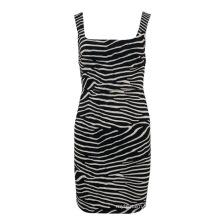 2021 Ladies' Hot Sale Summer Slim Fitted Fashion Bodycon Zebra Print Dress