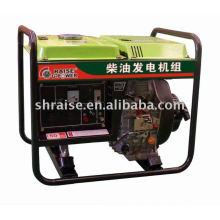 Открытый дизельный генератор с рамкой