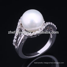 2018 sale pearl mountings 925 silver pearl ring