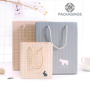 Gift Paper Bag with Handles Light Color