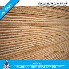 Madera contrachapada fenólica WBP con núcleo de madera dura y chapa Bintangor