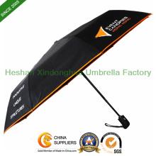 Auto öffnen und schließen drei Falten-Regenschirm für Werbung (FU-3821BAF)