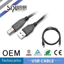 SIPU cable de alta calidad del usb para la impresora al por mayor cable micro de la impresora del usb el mejor precio cable de datos de la computadora del usb