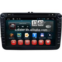 Quad core Android, écran tactile capacitif lecteur dvd de voiture Android avec wifi ou 3G pour Volkswagen