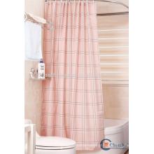 Cortina de banheiro de xadrez em tecido de poliéster extra longo