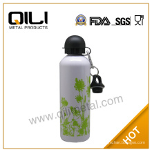 600ml hot double wall stainless steel thermos water flask with army green