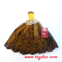 Brown Dress for Barbie Doll