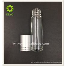 5ml 8ml bestes verkaufendes klares farbiges leeres Parfümkosmetische Glasrolle auf Flasche