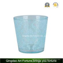 Bougies en verre plaqué argent pour la décoration de bougie Tealight