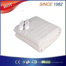 Aprobación de Qindao Ce / CB / GS / BSCI Lana de lana sintética Diez calienta la manta eléctrica del ajuste