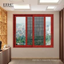 Fenêtre coulissante en verre teinté d'aluminium de persienne de salle de bains