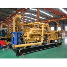 Green Power China Lvhuan 500kw Turbina de gas de la naturaleza Generador de planta de energía con generador refrigerado por agua y CHP Industrial
