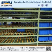 China heißen Verkauf Lager Schalen Karton Schwerkraft fließen Lagerung Stahl Regale