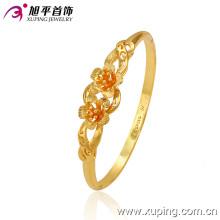 Fashion Pretty 24k Gold -Plated Flower Bangle