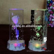 3D лазерное шланг с K9 пузырь кристалл куб на День Святого Валентина