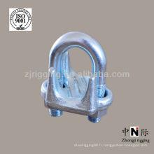 gréement de matériel galvanisé câble clip